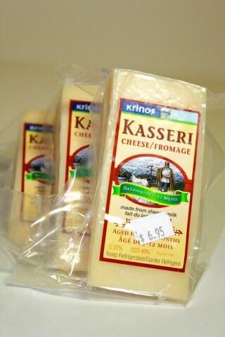 Greek kasseri cheese